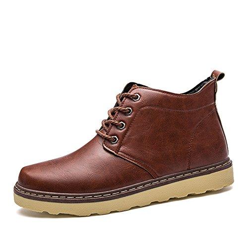 Herren Worker Ankle Boots Schnür Stiefeletten Herbst Winter Outdoor Warme Gefütterte Winterstiefel Wasserdicht Martin Stiefel - Premium-wasserdicht Chukka Boot