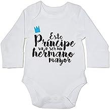 HippoWarehouse Este Príncipe va a ser un Hermano Mayor body manga larga bodys pijama niños niñas