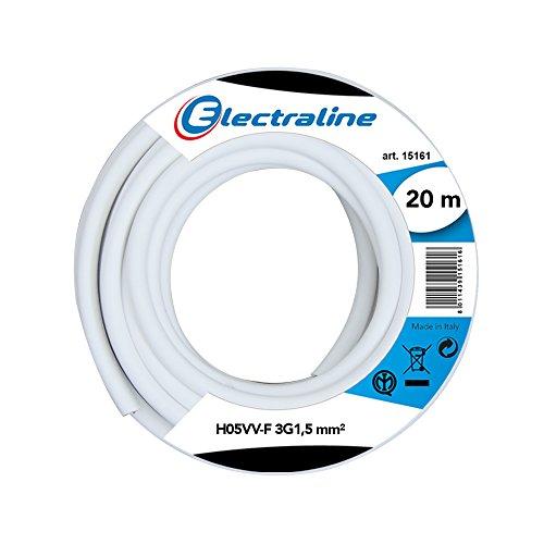 Electraline 11785 Cavo per Prolunghe H05VV F Sezione 3G1.5 20 mt Bianco