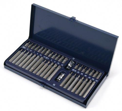 Schraubendreher-Satz Schraubenschlüssel-Einsatz Bit/Bitsätze TORX®T-PROFIL Innensechskant Einsatz/Steck-Nuss Schlüssel für Innen-6-kant Schrauben Vielzahn (Doppel-Sechskant/Doppel-6-kant) 40-tlg.