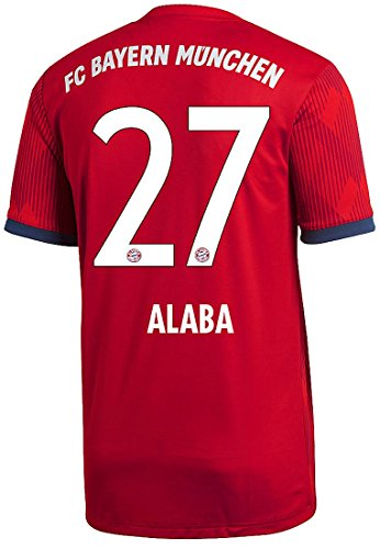 Adidas FC Bayern Múnich Camiseta Home 2018/2019Hombre, Alaba, M - 48/50