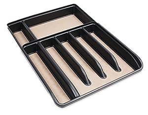 Rubbermaid Expandable No Slip Cutlery Tray, Black
