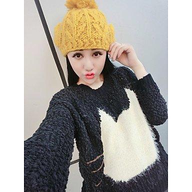 Erica signe fan art automne et pull-over hiver joli laine col rond motif t¨ºte de chat pull , fuchsia , one-size