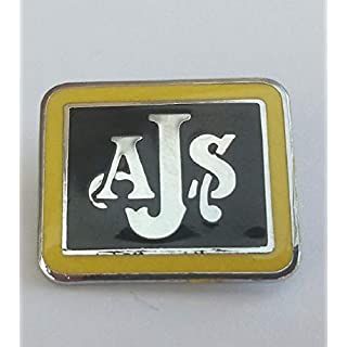 AJS enamel lapel pin badge