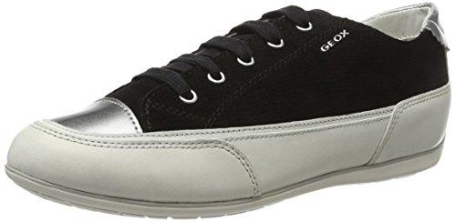 Geox Damen D New Moena D Sneakers Schwarz (black / Off Whitec9876)
