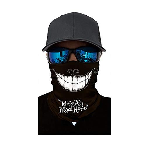 AchidistviQ Unisex Sonnenschutzmaske, Punk, Totenkopf, elastisch, Kopfbedeckung, Radfahren, Sport Ac057