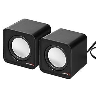 Audiocore AC870 USB Cube Portable Bookshelf Speakers 6W (Black)
