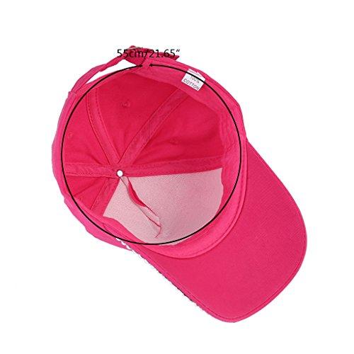 Dairyshop Il capretto delle donne di modo ha placcato registrabile del cappello del faux del modello della parte superiore della protezione del Rhinestone (Blu) Rosa 1