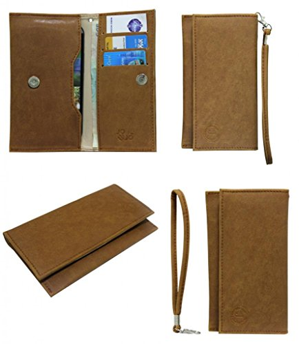 Jo Jo A5 Nillofer Leather Wallet Universal Pouch Cover Case For Micromax A52 Superfone Tan  available at amazon for Rs.390