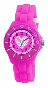 Tikkers Mädchen-Armbanduhr Analog rosa TK0023