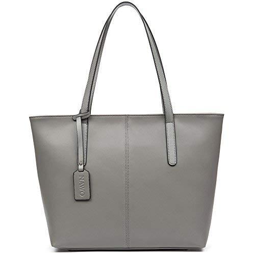 NAWO damen schulter tote handtaschen aus leder designer top-griff geldbeutel kleine (l) 14