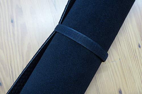 Schlagzeugteppich Drumteppich Velourteppich schwarz mit Gummirücken 190 x 160 cm