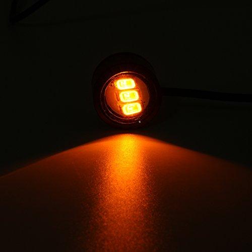 Alamor 2St Led Eagle Eye Lampe Blitz Drl Fahrrad Motorrad Auto Atv Licht-Gelb (Led Eagle Eye Gelb)
