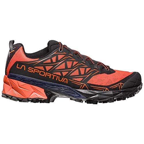 La Sportiva Akyra, Scarpe da Trail Running Uomo, Multicolore (Carbon/Tropic Blue 000), 42.5 EU