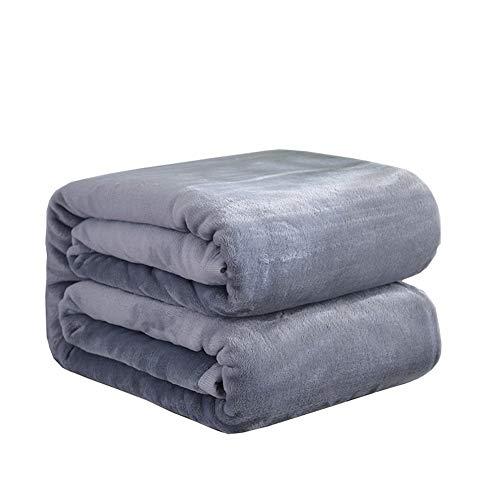 * 200cm Super Weiche Herbst Und Winter Dicke Decke,Gray,150 * 200cm/59 * 78in ()