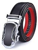 DCFlat Herren-Gürtel, verstellbare Schnalle, Ledergürtel für große und große Männer Gr. X-Large (A1, B1)
