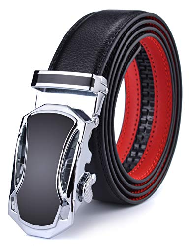 DCFlat Herren-Gürtel, verstellbare Schnalle, Ledergürtel für große und große Männer Gr. X-Large (A1, B1) Männer Gürtel
