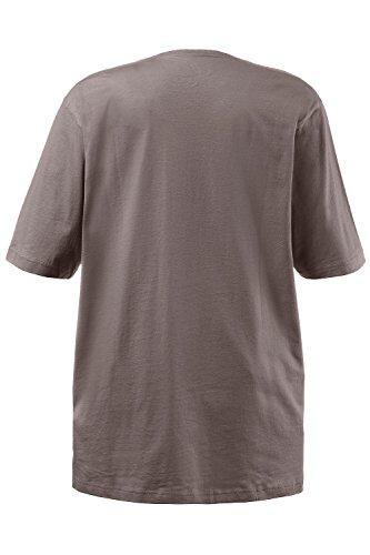 Ulla Popken Große Größen Damen T-Shirt, V-Ausschnitt steinbraun