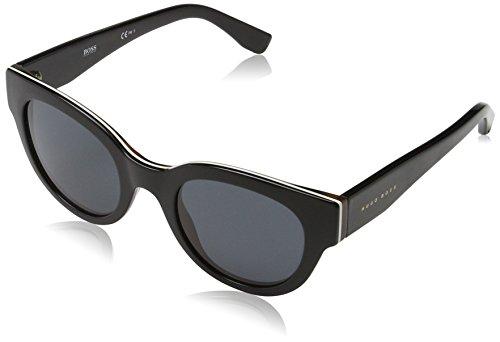 BOSS Hugo Damen 0888/S IR 0T8 Sonnenbrille, Schwarz (Bkivryhvn Bk/Grey Blue), 49