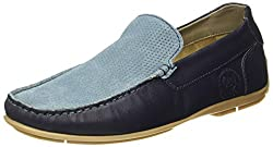 US Polo Association Mens Blue Leather Loafers and Moccasins - 7 UK/India (41 EU)