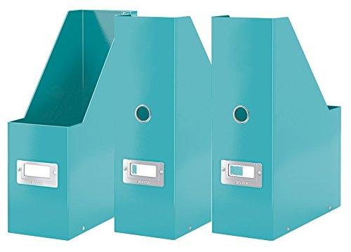 3er Pack Leitz, Stehsammler Click & Store, 604700 (eisblau | 3er Set)