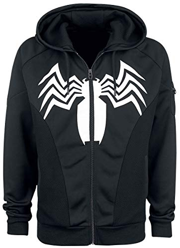 Spider-Man Venom Trainingsjacke schwarz L (Spiderman-venom-hoodie)