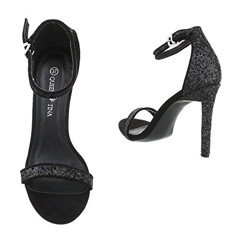 Ital-Design , chaussures compensées femme Schwarz B501YH-PB