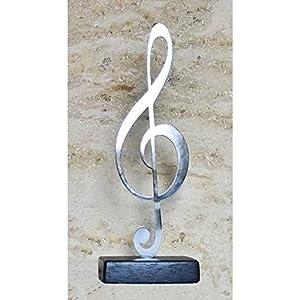 Wohnaccessoires Skulptur Edelstahl ''Notenschlüssel''
