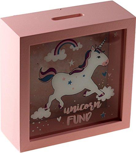 Hucha para niños con diseño de unicornio