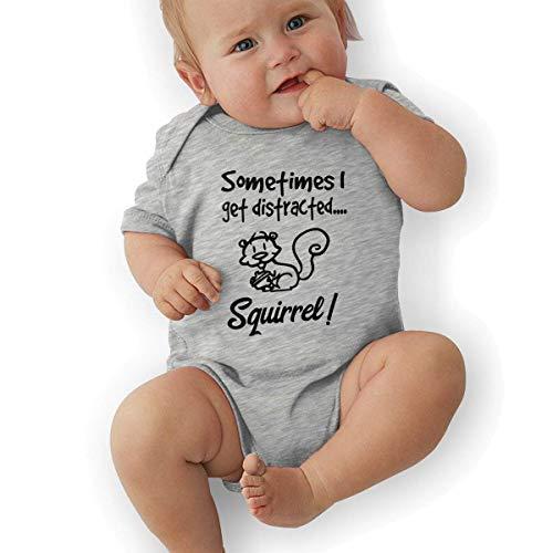 Babybekleidung Jungen Mädchen T-Shirts, Newborn Baby Girl's Bodysuit Short-Sleeve Onesie Sometimes I Get Distracted Squirrel Print Rompers Spring Pajamas (Little Einstein T-shirt)