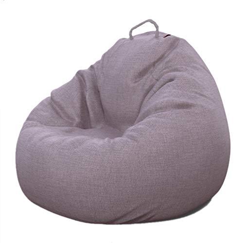 Moderner gelegentlicher Stuhl Classic Cord Bean Bag Große Gaming Bean Bag Stuhl für den Innen- und Außenbereich Perfekte Lounge oder Gaming Chair Haus oder Garten (Farbe : Grau) -