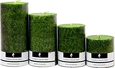 Real Store Scented Candles Set of 4 (Green)