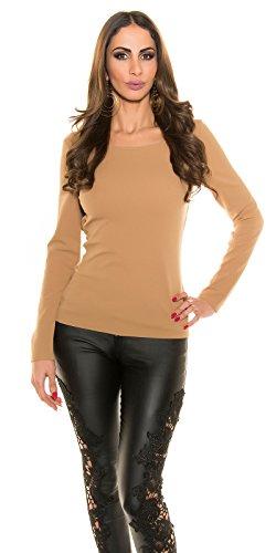 In-Stylefashion - Sweat-shirt - Femme marron marron foncé taille unique marron foncé