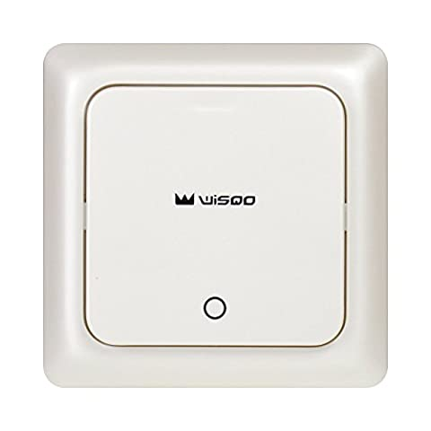 WisQo Wireless Light Switch Kit. Works With WisQo Receiver. Add a Remote Switch for Your Light Easily.AvoidChasing Wires into Walls. Save Cost and Time.