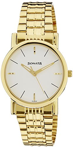 Sonata Analog White Dial Men's Watch -NK7987YM05W