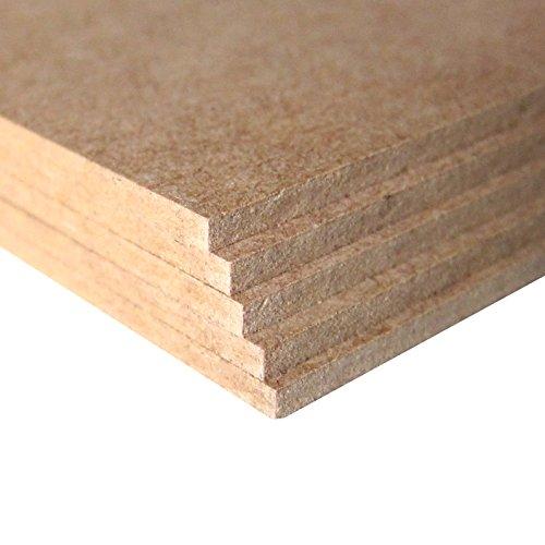 Carpintería Barús. MDF HolzPlatten. Größe, Dicke und Menge zur Auswahl. Holzfaserplatten Hergestellt und geschnitten in Galizien (Spanien). Zimmereiqualität. (MDF 5mm, 2xA2)