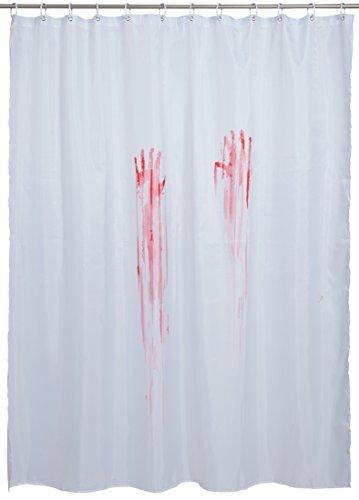 """Duschvorhang mit Horror-Print """"Bloody Hands"""" - inkl. 12 Duschvorhangringe - 180 x 180 cm - VENKON thumbnail"""