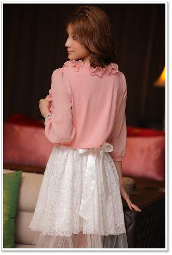 VIP Dress Giacca bolero con ruche in rosa Rosa