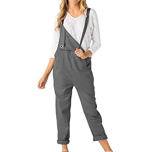 Innerternet Frauen Lose Latzhose Lose Lange Taschen Strampler Jumpsuit Hosen - Tasche Von Trash Kostüm