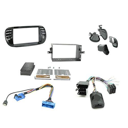 Kit Installation Autoradio KITFAC-ZFT2 pour Fiat 500 - Noir brillant - ADNAuto