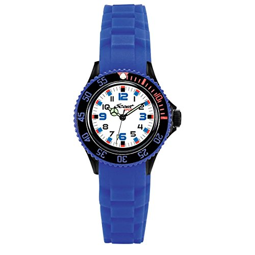 Scout Jungen Analog Quarz Uhr mit Silikon Armband 280303019