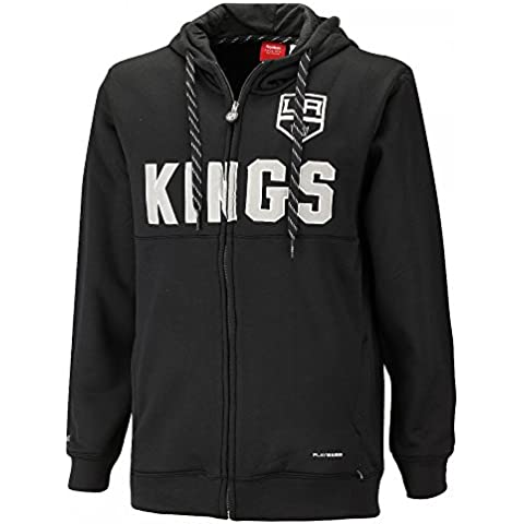 Reebok CCM NHL LOS ANGELES KINGS Faceoff Full Zip Hoody, Größe:L