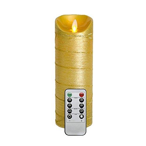 Fernbedienung / Timer 8 × 22,9 CM Batteriebetrieben LED Kerzen mit Beweglicher Flamme
