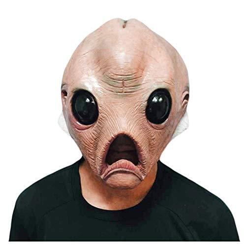 YAX Masken 1 Stücke Alien Latex Maske Atmungsaktive Vollgesichtsmaske Halloween Maskerade Scary Maske Kostümfest - Cute Alien Kostüm Für Erwachsene