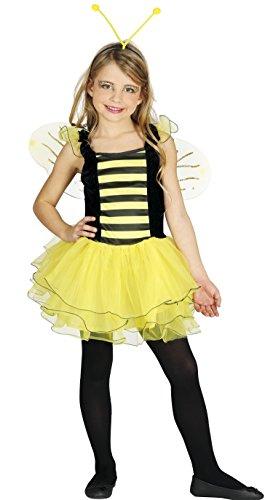 Biene - Kostüm für Mädchen Gr. 110 - 146, Größe:110/116 (Biene Kostüm Kind Größe)