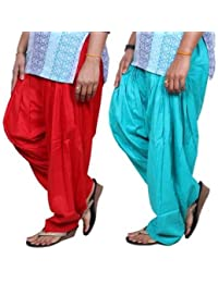 ROOLIUMS ® (Brand Factory Outlet) Punjabi Patiala Salwar Pack -2 Free size (Red, Sky blue)