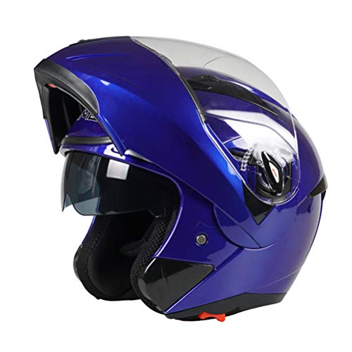 Preisvergleich Produktbild Männer Doppelobjektiv Motorradhelm Antifogging Winter Warme Integralhelme All Seasons Safety Motocross Caps