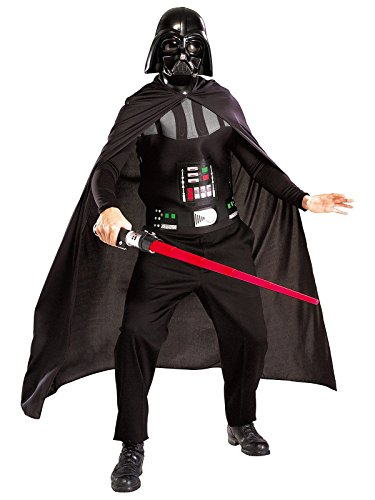 Star Wars - Darth Vader Kostüm für Erwachsene: Cape Maske (Authentische Erwachsene Robe Jedi)