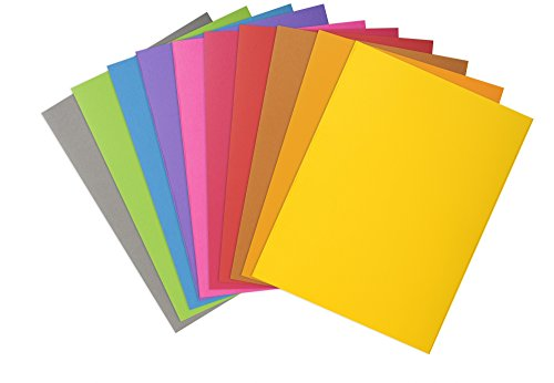 Exacompta 210001E Aktendeckel aus Manila-Karton 220 g/m² 100 Stück 10 Farben sortiert