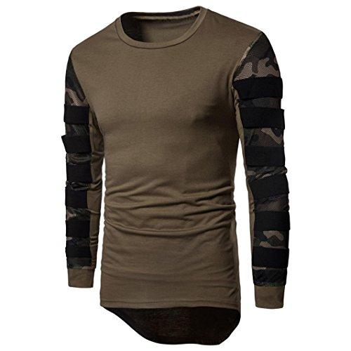 Preisvergleich Produktbild Kobay Herren Lange Ärmel Mehrfarbig Bedruckter Pullover Sweatshirt Top T Outwear Bluse